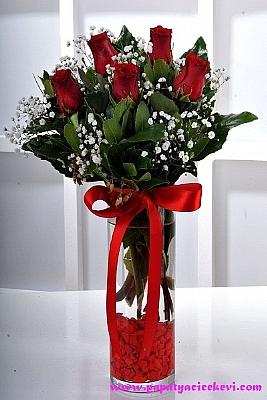 Vazo da Kırmızı Güller