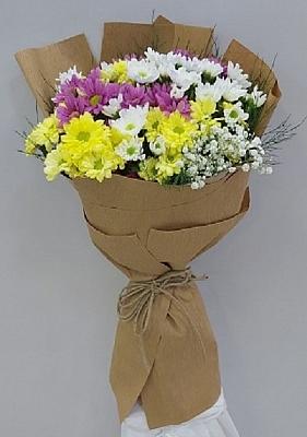 Kraft Kağıtla Hazırlanmış Kır Çiçekleri