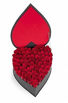 Kalp Kutuda Kırmızı Güller Vip